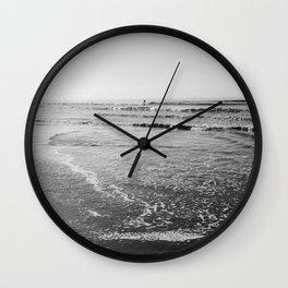 Surfing Monochrome Wall Clock