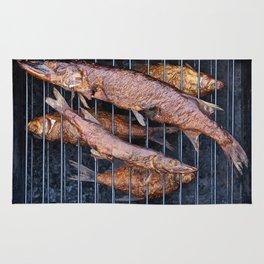 Smoked fish pike and roach Rug