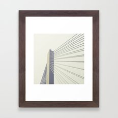 cable-stayed bridge Framed Art Print
