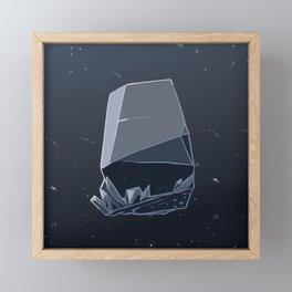 Midnight Blue Gem Framed Mini Art Print