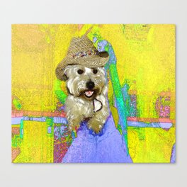 West Highland White Terrier - Ready To Go? Canvas Print