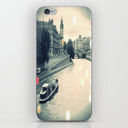 Floating gray iPhone Skin