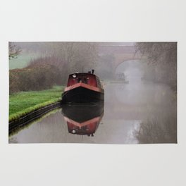Mystical Barge on the Canal Rug