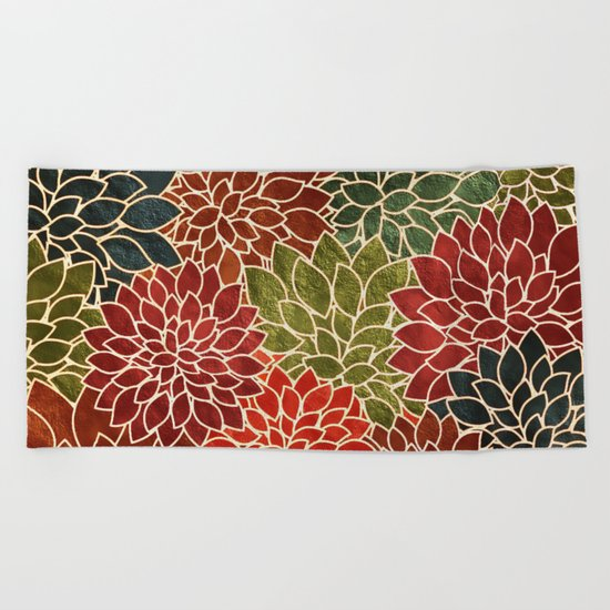 Floral Abstract 7 Beach Towel