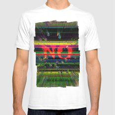 NO White MEDIUM Mens Fitted Tee