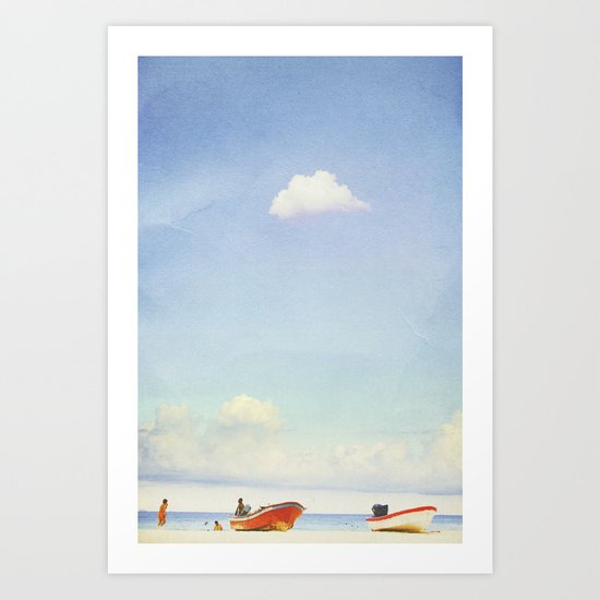 Lonely Skies - Playa del Carmen Art Print