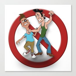 No Bulling Canvas Print