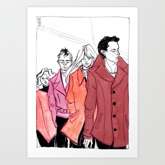 A Study in Scarlet by Kat Mills Art Print