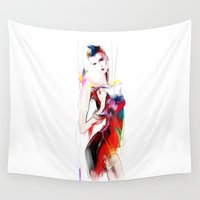 carnival Wall Tapestries featuring carnival by tatiana-teni