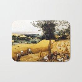 The Harvesters Painting by Pieter Bruegel the Elder Bath Mat