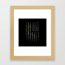 Khaki american flag Framed Art Print