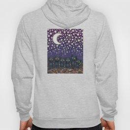 black cats, stars, & moon Hoody