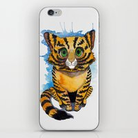 kitten iPhone & iPod Skins featuring Kitten by SilviaGancheva