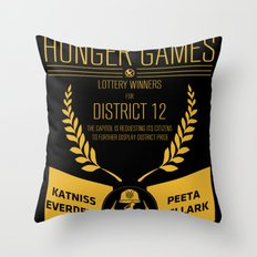 74th annual hunger games poster Throw Pillow