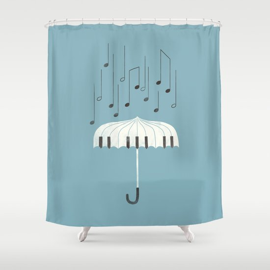Singing In The Rain Shower Curtain By Ilovedoodle
