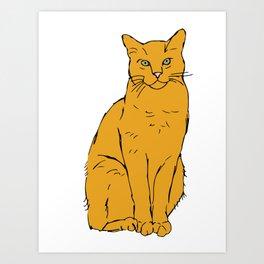 Orange Tabby Art Print