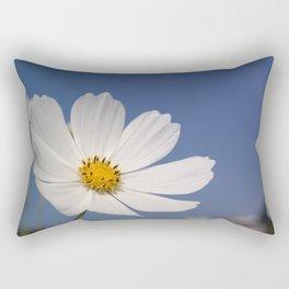 White Cosmos Rectangular Pillow