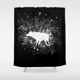 Banksy Dog Splash Paint Artwork Reproduction, Posters, Prints, Bags, Mugs, Postcards, Tshirts, Men, Shower Curtain