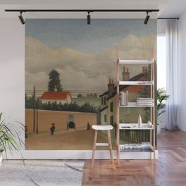 "Henri Rousseau ""Outskirts of Paris"" Wall Mural"