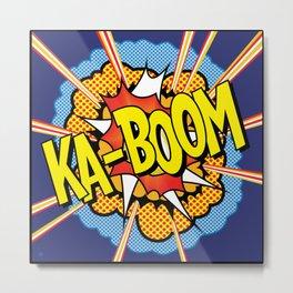 Ka Boom Pop Art Metal Print
