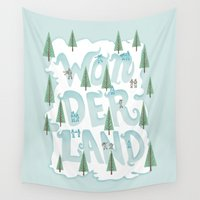 wonderland Wall Tapestries featuring Wonderland by Nick Volkert