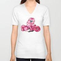 jem V-neck T-shirts featuring Jem Demon Pony by Shaman Soul Studios