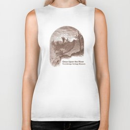 Once Upon the River (Ticonderoga Falls) Biker Tank