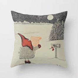 """Tomten Elmer's"" empty wishlist. Throw Pillow"