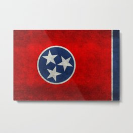 Tennessee State flag, Vintage Retro Style Metal Print