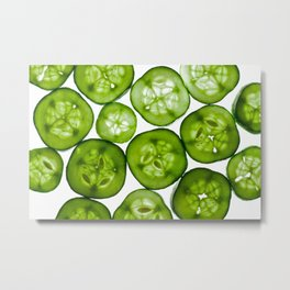 Fresh Yummy Cucumbers Metal Print