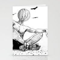 desert Stationery Cards featuring Desert by Deusexmuraena
