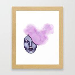 Smoke Head Framed Art Print