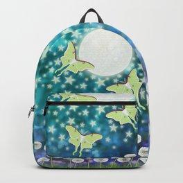 the moon, stars, luna moths, & dandelions Backpack