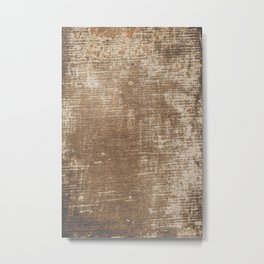 Cement Weathered Brown Abstract Photograph Metal Print