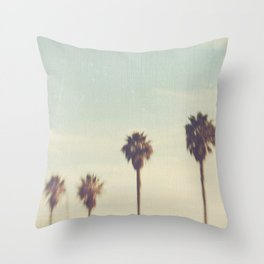 palm trees. Daydreamer No.2 Throw Pillow
