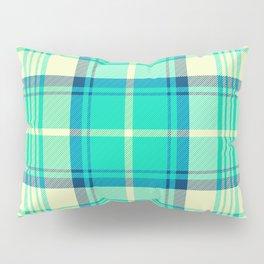 Turquoise Tartan Pillow Sham