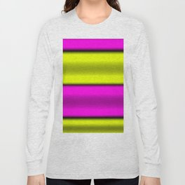 Pink & Yellow  Horizontal Stripes Long Sleeve T-shirt