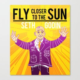 Fly closer to the sun Canvas Print