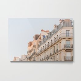 Pastel Buildings in the Left Bank - Paris Photography Metal Print