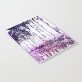 Monet Poplars on the Banks of the River Epte Magenta Violet Notebook