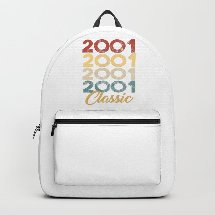 Vintage Retro Born In 2001 18th Birthday Gift Backpack