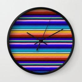 Mexican Stripes Wall Clock