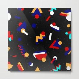 Memphis geometric pattern #2 Metal Print