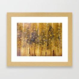 eyes in the trees  Framed Art Print
