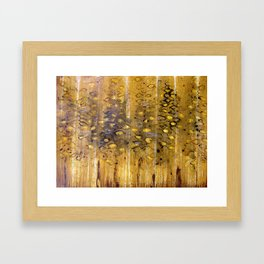 eyes in the trees  Framed Art Print
