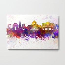 Ancona skyline in watercolor background Metal Print
