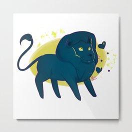 black lion Metal Print