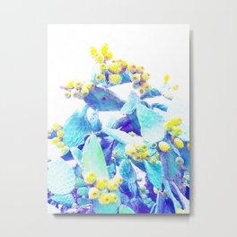 Pop Cactus Bloom #tropicalart #lifestyle #buyart Metal Print