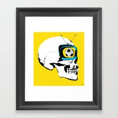 Football Mind - a round thing in the TV eye v4 Framed Art Print