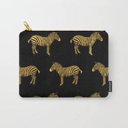Gold Zebra Pattern Carry-All Pouch